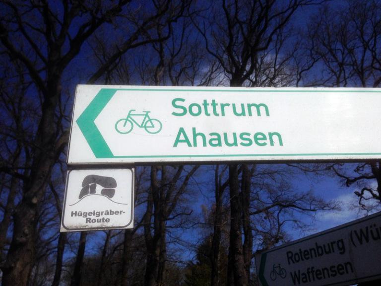 Hügelgräber Route im Landkreis ROW
