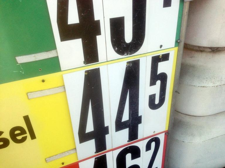 benzin preis 1974