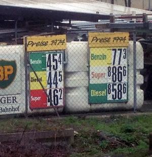 Benzinpreis 1974